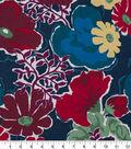 Robert Allen @ Home Print Swatch 55\u0022-Splashy Garden Poppy
