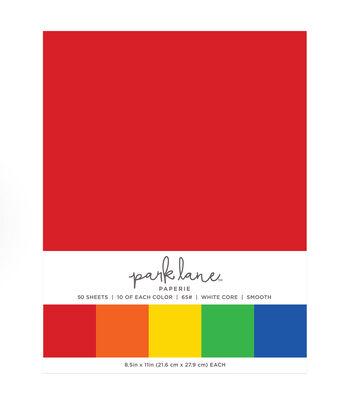Park Lane 50 pk 8.5''x11'' Value Papers-Rainbow