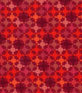 Keepsake Calico Cotton Fabric -Multi Red Packed Diamond Geometrics