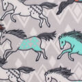 Blizzard Fleece Fabric-Breeze Tribal Horses