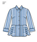 Simplicity Pattern 8297 Misses\u0027 Shirts-Size H5 (6-8-10-12-14)