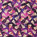 Super Snuggle Flannel Fabric-Pizza in Space