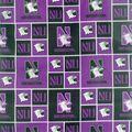 Northwestern University Wildcats Cotton Fabric -Logo