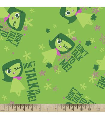 "Disney PIXAR Inside Out Print Fabric-Disgust ""Don't Talk To Me"""