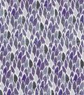 Modern Cotton Fabric 43\u0027\u0027-Purple Mini Feathers