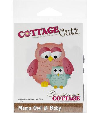 """CottageCutz Die-Mama Owl & Baby 2""""X2"""""""