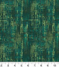 Wide Cotton Fabric-Green Crosshatch