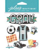 Jolee's Boutique Dimensional Stickers-Soccer, , hi-res