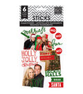 Me & My Big Ideas Pocket Pages Holly Jolly Christmas Clear Stickers