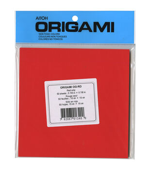 "Origami Paper 5.875""X5.875"" 50/Pkg-Red"