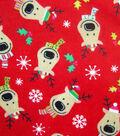 Maker\u0027s Holiday Fleece Fabric 42\u0022-Reindeer