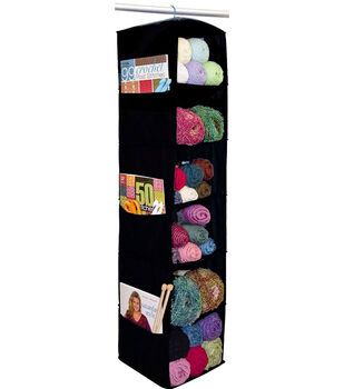 Yarn & Craft Organizer 6 Shelf 48X11X11-Black