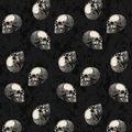 Maker\u0027s Halloween 60\u0027\u0027 Round Tablecloth-Skulls