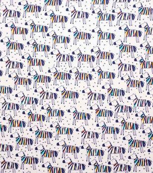 Super Snuggle Flannel Fabric-Multi-Colored Zebra