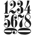 Stampers Anonymous Tim Holtz Cling Rubber Stamp Set Numeric