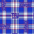 New York Giants Fleece Fabric -Plaid