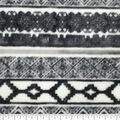 Luxe Fleece Fabric -Black & White Geometrics