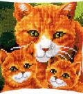 Vervaco 16\u0027\u0027x16\u0027\u0027 Cushion Cross Stitch Kit-Cats Family