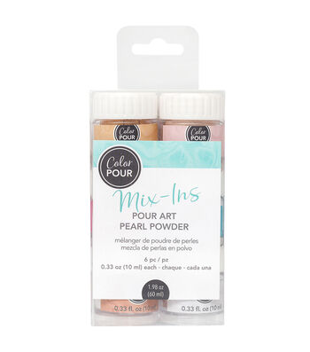 American Crafts Color Pour Mix-Ins 6 pk Pearl Powders