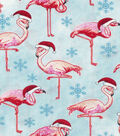 Christmas Cotton Fabric-Santa Flamingos