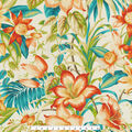 Tommy Bahama Outdoor Fabric 13x13\u0022 Swatch- Botanical Glow Tiger Lily