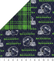 Seattle Seahawks Double Faced Quilt Fabric, , hi-res