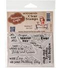 Dreamerland Crafts Sentiments Clear Stamp Set 3\u0027\u0027x4\u0027\u0027-Wedding 01