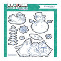 Photo Play Paper Frosty Friends 8 pk Etched Dies