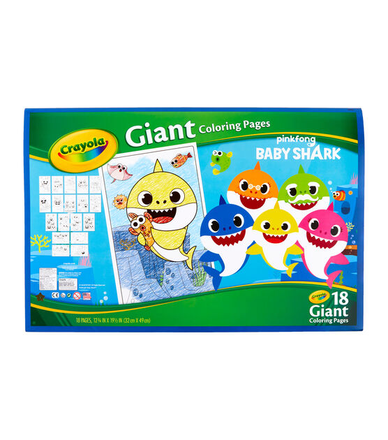 Crayola Giant Coloring Pages Baby Shark | JOANN