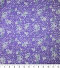 Premium Cotton Fabric-Maeve Purple Splatter Flowers