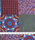 Silky Crepe Fabric 53\u0022-Multi Patchwork