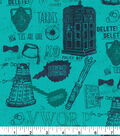 BBC Doctor Who Flannel Fabric 42\u0022-Bow Ties Are Cool