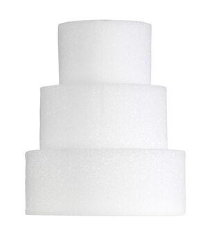 4X10In Foam Cake Form Wht