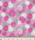 Snuggle Flannel Fabric 43\u0022-Petal Texture Pink/Gray