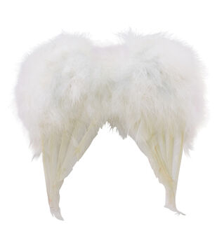 Maker's Halloween Mini Feather Wings-White