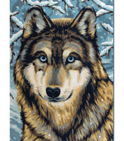 "Junior Paint By Number Kits 9""X12""-Wolf 2, , hi-res"