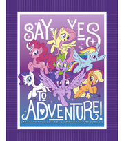 No-Sew Throw Fabric -My Little Pony Say Yes To Adventure, , hi-res