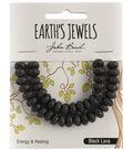 Earth\u0027s Jewels Semi-Precious Rondell 5x8mm Beads-Black Lava