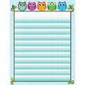Colorful Owls Incentive Chart, 12 Per Pack