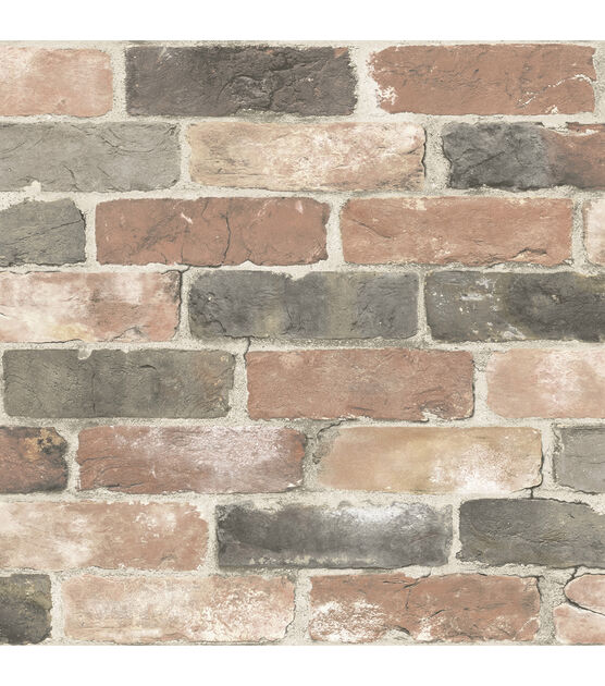 Wallpops Nuwallpaper Peel And Stick Wallpaper Newport Reclaimed Brick Joann