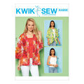 Kwik Sew Pattern K4208 Misses\u0027 Loose Jackets & Knit Tops-Size XS-XL