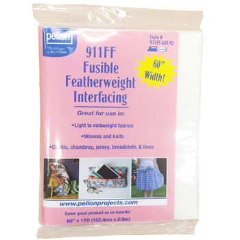"Pellon 911FF Fusible Featherweight Interfacing 60""x1yd-White"
