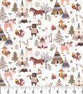 Premium Prints Cotton Fabric-Woodland Camp Ground
