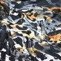 Fast Fashion Knit Fabric-Black & Orange Abstract Animal