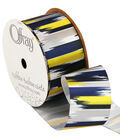 1 And 1 Half True Blue Paint Stroke Ribbon