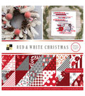 DCWV 12\u0022x12\u0022 Premium Stack-Red & White Christmas