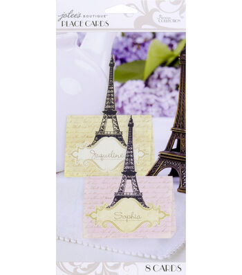 Jolee's Boutique Parisian Eiffel Tower Place Cards