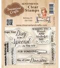 Dreamerland Crafts Sentiments Clear Stamp Set 3\u0027\u0027x4\u0027\u0027-Birthday 03