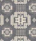 Snuggle Flannel Fabric -Gray Aztec