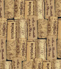 Novelty Cotton Fabric -Packed Wine Corks